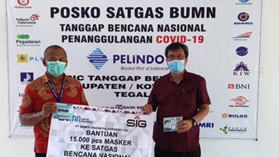 PT Semen Indonesia Tbk Salurkan 15.000 Masker di 12 Kota di Jateng